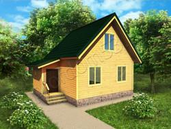 Дом из бруса проект Абрам - вид 1