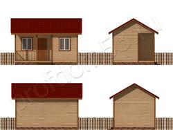 Дом из бруса проект Адам - вид 2
