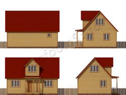 Дом из бруса проект Адриан - вид 2