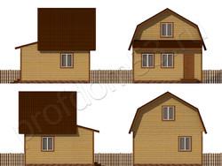 Дом из бруса проект Афанасий - вид 2