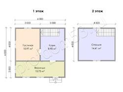 Дом из бруса проект Афанасий - вид 3