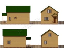 Дом из сухого бруса проект Агап - вид 2