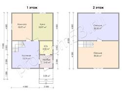 Дом из сухого бруса проект Агап - вид 3