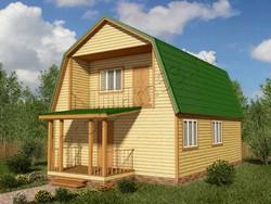 Дом из бруса проект Амир - вид 1