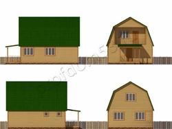 Дом из бруса проект Амир - вид 2