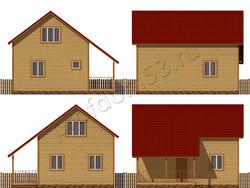 Дом из бруса проект Ахмет - вид 2