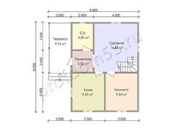 Дом из бруса проект Ахмет - вид 3