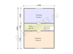 Дом из бруса проект Ахмет - вид 4