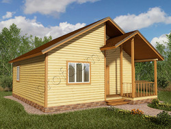 Дом из бруса проект Акакий - вид 1