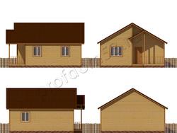 Дом из бруса проект Акакий - вид 2