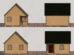 Дом из сухого бруса проект Аким - вид 2