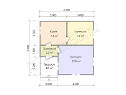 Дом из сухого бруса проект Аким - вид 4