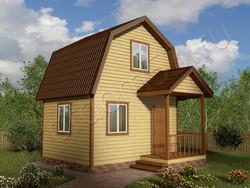 Дом из бруса проект Альберт - вид 1