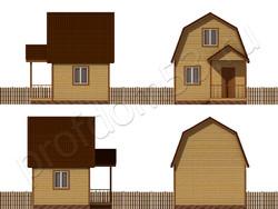 Дом из бруса проект Альберт - вид 2