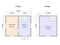Дом из бруса проект Альберт - вид 3