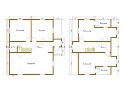 Дом из бруса проект Александр - вид 2