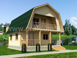 Дом из бруса проект Алексей - вид 1