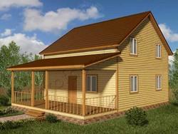 Дом из бруса проект Дарий - вид 1