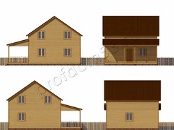 Дом из бруса проект Дарий - вид 2