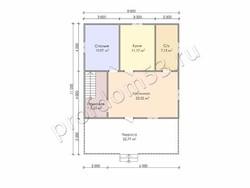 Дом из бруса проект Дарий - вид 3