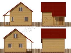 Дом из бруса проект Алихан - вид 2