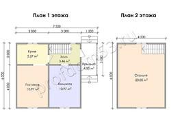 Дом из бруса проект Алихан - вид 3