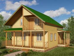 Дом из бруса проект Алик - вид 1