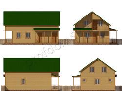 Дом из бруса проект Алик - вид 2