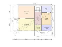 Дом из бруса проект Алик - вид 3