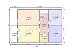 Дом из бруса проект Алик - вид 4