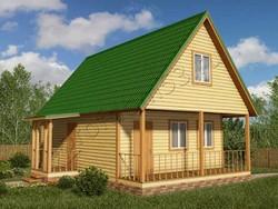Дом из бруса проект Нестор - вид 1