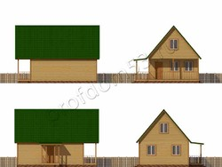 Дом из бруса проект Нестор - вид 2
