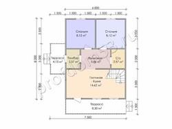 Дом из бруса проект Нестор - вид 3
