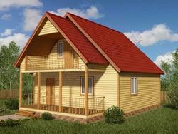 Дом из бруса проект Дамир - вид 1