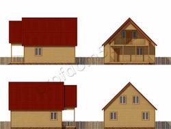 Дом из бруса проект Дамир - вид 2