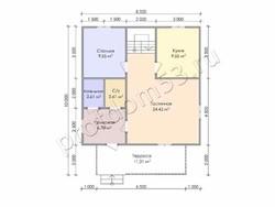 Дом из бруса проект Дамир - вид 3