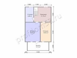 Дом из бруса проект Дамир - вид 4