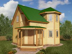 Дом из бруса проект Алмаз - вид 1