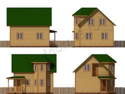 Дом из бруса проект Алмаз - вид 2