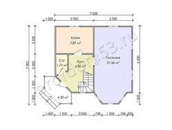 Дом из бруса проект Алмаз - вид 3