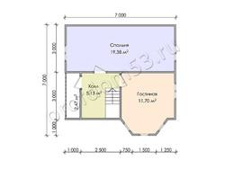 Дом из бруса проект Алмаз - вид 4
