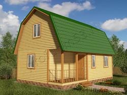 Дом из бруса проект Амирам - вид 1