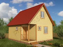 Дом из бруса проект Анар - вид 1