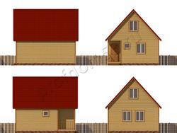 Дом из бруса проект Анар - вид 2