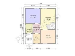 Дом из бруса проект Анар - вид 3