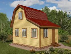 Дом из бруса проект Анатолий - вид 1