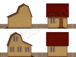 Дом из бруса проект Анатолий - вид 2