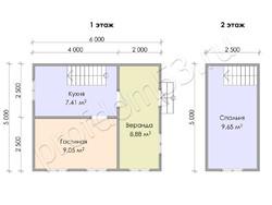 Дом из бруса проект Анатолий - вид 3