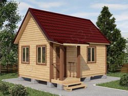 Дом из бруса проект Андрей - вид 1