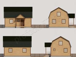 Дом из бруса проект Анфим - вид 2